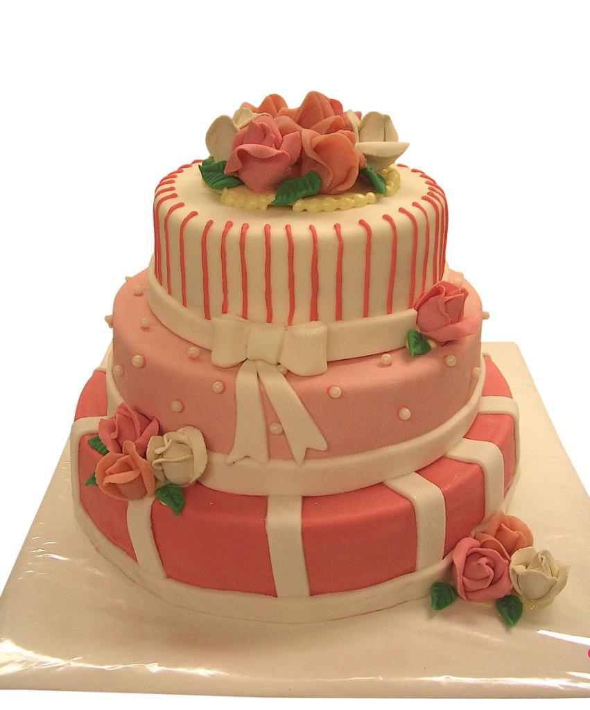 Romantisches rosa hochzeitstorten caf conditorei albring r del - Moderne hochzeitstorten ...